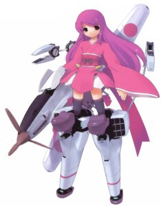 Rating: Safe Score: 4 Tags: jiji mecha mecha_musume thighhighs yukata User: Radioactive