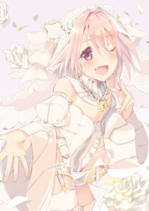 Rating: Safe Score: 15 Tags: astolfo_(fate) cosplay fate/apocrypha fate/grand_order fate/stay_night p_answer saber_bride saber_extra stockings thighhighs trap User: Mr_GT