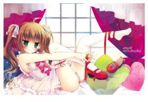 Rating: Questionable Score: 72 Tags: asahi_hyuga cameltoe garter hisama_kumako pantsu thighhighs User: fairyren