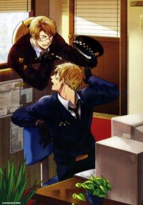 Rating: Safe Score: 5 Tags: america hetalia_axis_powers male megane meko united_kingdom User: charunetra