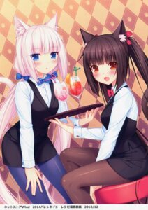 Rating: Safe Score: 133 Tags: animal_ears chocola neko_works nekomimi nekopara pantyhose sayori valentine vanilla waitress User: donicila