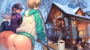 Rating: Questionable Score: 37 Tags: ass megane ogami pantsu pantyhose pointy_ears smoking sweater thong witch User: Mr_GT