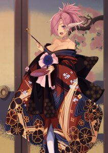Rating: Safe Score: 28 Tags: horns japanese_clothes kimono no_bra open_shirt smoking tagme User: BattlequeenYume