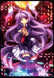 Rating: Safe Score: 27 Tags: animal_ears bunny_ears capura.l reisen_udongein_inaba seifuku thighhighs touhou User: Rainbow-Falls