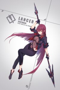 Rating: Safe Score: 61 Tags: fate/grand_order heels nian scathach_(fate/grand_order) weapon User: Mr_GT