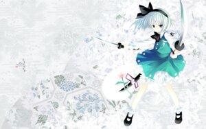 Rating: Safe Score: 15 Tags: chronolog hiiragi_ryou i.s.w konpaku_youmu sakurazawa_izumi sword touhou wallpaper User: charunetra