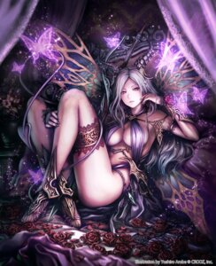 Rating: Safe Score: 68 Tags: anbe_yoshirou cleavage deity_wars garter heels horns no_bra sword tail wings User: Mr_GT