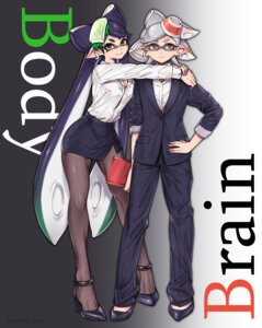 Rating: Safe Score: 10 Tags: aori_(splatoon) cleavage heels hotaru_(splatoon) megane pantyhose pointy_ears puchiman splatoon User: Mr_GT