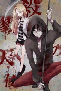 Rating: Safe Score: 11 Tags: bandages isaac_foster miharairo rachel_gardner satsuriku_no_tenshi weapon User: charunetra
