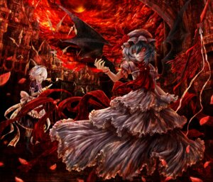 Rating: Safe Score: 20 Tags: izayoi_sakuya kazabana_kazabana remilia_scarlet touhou wings User: Mr_GT