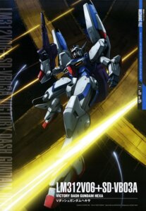 Rating: Safe Score: 10 Tags: abe_shingo gun gundam mecha victory_gundam User: drop