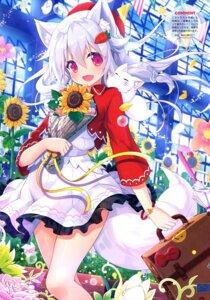 Rating: Safe Score: 25 Tags: animal_ears kitsune skirt_lift tail yano_mitsuki User: drop