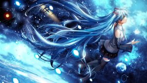 Rating: Safe Score: 48 Tags: hatsune_miku komecchi thighhighs vocaloid User: 麻里子
