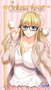 Rating: Questionable Score: 52 Tags: cleavage hozumi_kaoru megane User: mash
