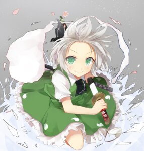 Rating: Safe Score: 24 Tags: efe konpaku_youmu sword touhou User: fairyren