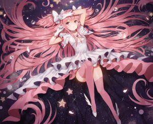 Rating: Safe Score: 77 Tags: cleavage dangmill dress puella_magi_madoka_magica thighhighs ultimate_madoka User: Mr_GT