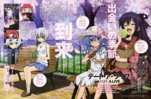Rating: Safe Score: 36 Tags: date_a_live tobiichi_origami yamamoto_shuuhei yatogami_tooka yoshino_(date_a_live) User: vkun