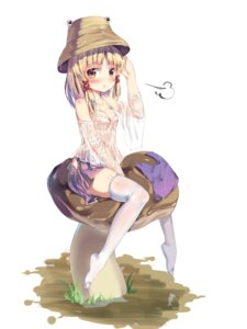 Rating: Questionable Score: 51 Tags: cleavage moriya_suwako see_through thighhighs touhou wet_clothes User: Mr_GT