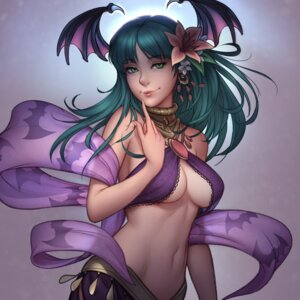 Rating: Questionable Score: 70 Tags: cleavage dark_stalkers jonathan_hamilton morrigan_aensland no_bra underboob wings User: Mr_GT