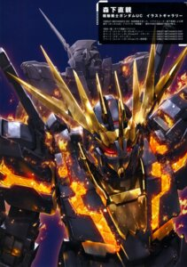 Rating: Safe Score: 23 Tags: banshee gundam gundam_unicorn mecha morishita_naochika unicorn_gundam User: DDD