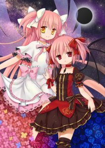 Rating: Safe Score: 21 Tags: dress kaname_madoka kriemhild_gretchen puella_magi_madoka_magica silver15 thighhighs ultimate_madoka wings User: TassadaR