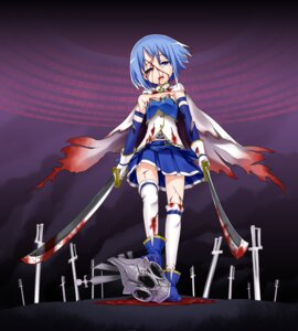Rating: Questionable Score: 19 Tags: blood gengorou guro miki_sayaka puella_magi_madoka_magica sword thighhighs User: Radioactive