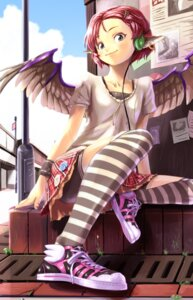 Rating: Safe Score: 34 Tags: animal_ears asahina bike_shorts mystia_lorelei thighhighs touhou wings User: Mr_GT