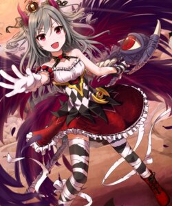 Rating: Safe Score: 49 Tags: bandages horns kanzaki_ranko komore the_idolm@ster the_idolm@ster_cinderella_girls thighhighs User: gogotea28