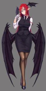 Rating: Safe Score: 30 Tags: business_suit haiiro_gundan koakuma megane pointy_ears touhou wings User: Mr_GT