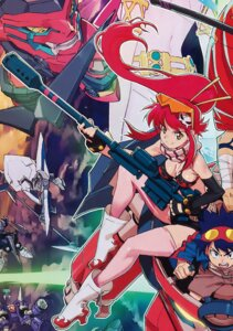 Rating: Questionable Score: 13 Tags: bikini_top cleavage simon tengen_toppa_gurren_lagann thighhighs yoko yoshinari_you User: demonbane1349
