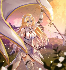 Rating: Safe Score: 31 Tags: armor fate/grand_order jeanne_d'arc jeanne_d'arc_(fate) lkeris sword thighhighs User: sym455