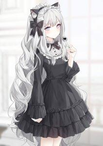 Rating: Safe Score: 37 Tags: animal_ears dress gothic_lolita heterochromia lolita_fashion nekomimi ronopu User: BattlequeenYume