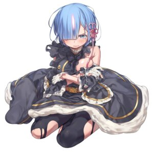 Rating: Safe Score: 58 Tags: breast_hold horns ka-no pantyhose re_zero_kara_hajimeru_isekai_seikatsu rem_(re_zero) torn_clothes uniform User: nphuongsun93