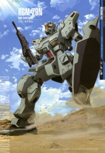 Rating: Safe Score: 16 Tags: gun gundam gundam_0083 mecha rgm-79_gm shino_masanori User: Radioactive