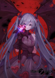 Rating: Safe Score: 20 Tags: chicken_(dalg-idalg) dress forever_7th_capital hatsune_miku horns vocaloid wings User: Dreista