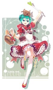 Rating: Safe Score: 52 Tags: dress hatsune_miku lf pantsu shimapan tagme thighhighs vocaloid User: blooregardo