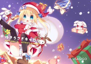 Rating: Questionable Score: 26 Tags: cameltoe christmas dress hoshi pantsu shimapan thighhighs User: Mr_GT