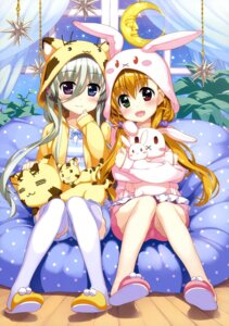 Rating: Safe Score: 46 Tags: einhart_stratos fujima_takuya heterochromia mahou_shoujo_lyrical_nanoha mahou_shoujo_lyrical_nanoha_vivid pajama thighhighs vivio User: drop
