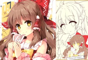 Rating: Safe Score: 21 Tags: hakurei_reimu line_art mochizuki_shiina touhou User: kiyoe