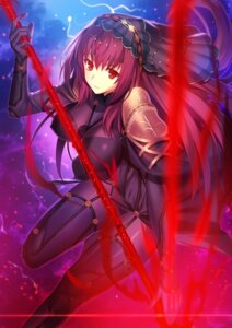 Rating: Questionable Score: 60 Tags: armor bodysuit erect_nipples fate/grand_order fuyuki_(neigedhiver) scathach_(fate/grand_order) thighhighs weapon User: mash