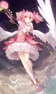Rating: Safe Score: 33 Tags: kaname_madoka kyurin puella_magi_madoka_magica weapon wings User: ddns001