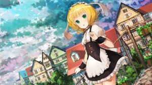 Rating: Safe Score: 30 Tags: animal_ears gochuumon_wa_usagi_desu_ka? jan_(artist) kirima_sharo maid umbrella User: Mr_GT
