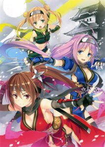 Rating: Safe Score: 51 Tags: cleavage ninja no_bra pantsu sword thighhighs weapon yuuki_hagure User: Twinsenzw