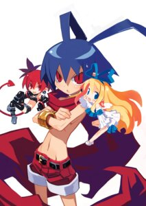 Rating: Safe Score: 12 Tags: chibi disgaea etna flonne harada_takehito laharl pointy_ears tail thighhighs wings User: Radioactive