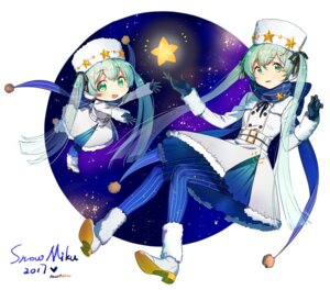Rating: Safe Score: 28 Tags: chibi hatsune_miku heels newrein pantyhose vocaloid yuki_miku User: Mr_GT