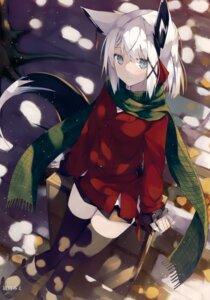 Rating: Safe Score: 43 Tags: animal_ears nagishiro_mito tail thighhighs User: Hatsukoi