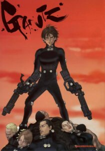 Rating: Safe Score: 4 Tags: bodysuit gantz gun jpeg_artifacts kishimoto_kei kurono_kei masaru_kato oku_hiroya sakuraoka_sei screening User: calebjoe