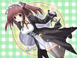 Rating: Safe Score: 20 Tags: berry's gothic_lolita izuno_youko kimizuka_aoi lolita_fashion waitress wallpaper User: admin2