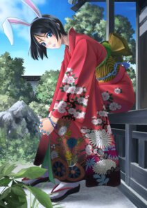 Rating: Safe Score: 10 Tags: animal_ears bunny_ears kimono yamagami_mozuku User: gnarf1975