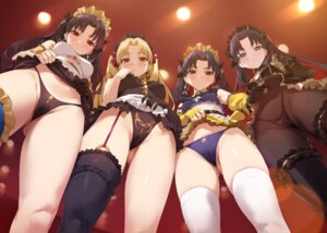 Rating: Questionable Score: 134 Tags: cameltoe ereshkigal_(fate/grand_order) fate/grand_order ishtar_(fate/grand_order) maid pantsu pantyhose skirt_lift space_ishtar_(fate) stockings thighhighs thong underboob yang-do User: BattlequeenYume